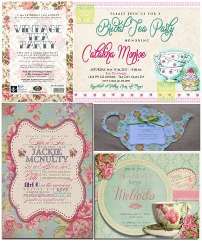 Here Are A Few Vintage Themed Hen Party Invitations For You To Get An Idea Of What Works This Tea Theme