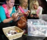 Image of a group of ladies doing a fascinator Making activity for a hen party