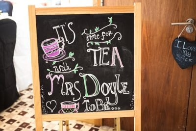 its time for tea sign