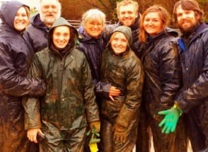 Image of a group of people covered in muck after Quadbiking Hen Party activity Carrick on Shannon