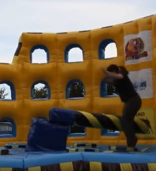 Image of a Hen party doing the Total Wipeout activity