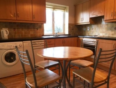 kitchen in a self catering apartment in Carrick on shannon